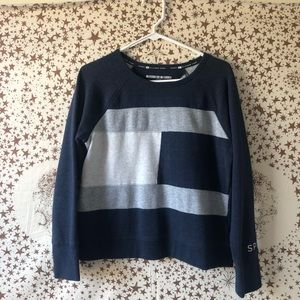 Blue color block Tommy Hilfiger crewneck